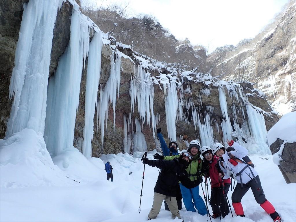 2017雲竜渓谷氷瀑ツアースタート